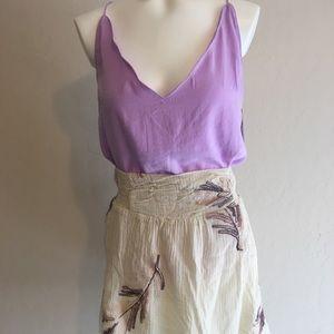 Romy Boho Knit Floral Skirt